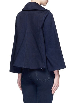 Back View - Click To Enlarge - Co - Flare sleeve denim jacket