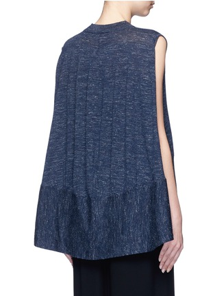 Co - Wool blend sleeveless cape sweater