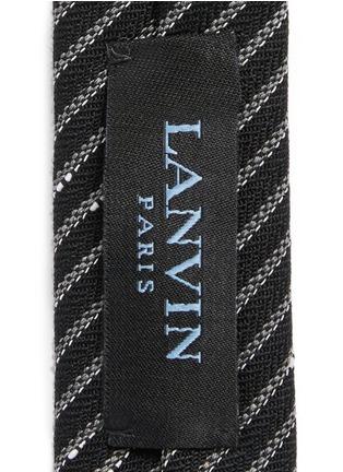 Lanvin-Irregular stripe woven wool tie