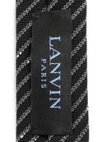 Irregular stripe woven wool tie
