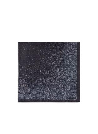 Lanvin-Mix dot print silk pocket square