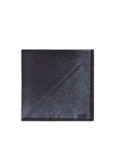 Lanvin Mix dot print silk pocket square