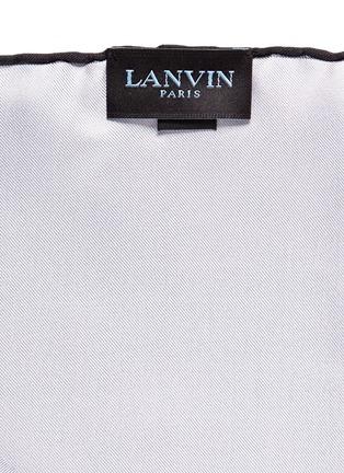 细节 - 点击放大 - LANVIN - 拼色真丝袋巾