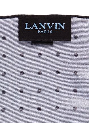 细节 - 点击放大 - LANVIN - 波点印花拼色真丝袋巾