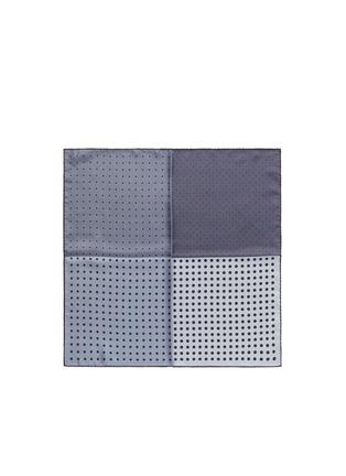 首图 - 点击放大 - LANVIN - 波点印花拼色真丝袋巾