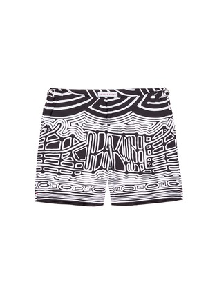 Main View - Click To Enlarge - Orlebar Brown - 'Bulldog Aboriginal' geometric print swim shorts