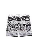 'Bulldog Aboriginal' geometric print swim shorts