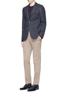 Boglioli'Casati' slim fit wool-cotton jersey soft blazer