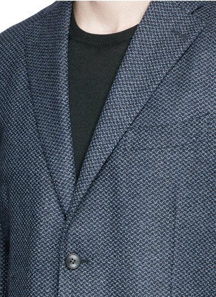 Detail View - Click To Enlarge - Boglioli - 'K-Jacket' wool-cashmere herringbone soft blazer