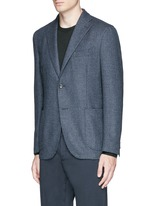 'K-Jacket' wool-cashmere herringbone soft blazer