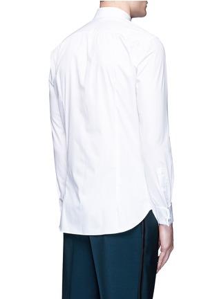 Back View - Click To Enlarge - Boglioli - Bib front cotton tuxedo shirt