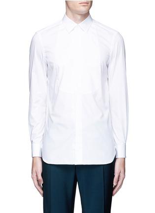 Main View - Click To Enlarge - Boglioli - Bib front cotton tuxedo shirt