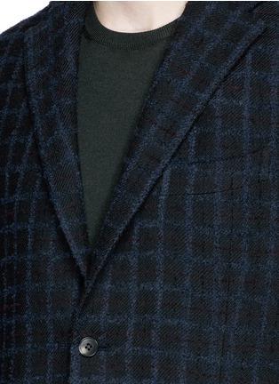 Detail View - Click To Enlarge - Boglioli - 'K-Jacket' check bouclé soft blazer