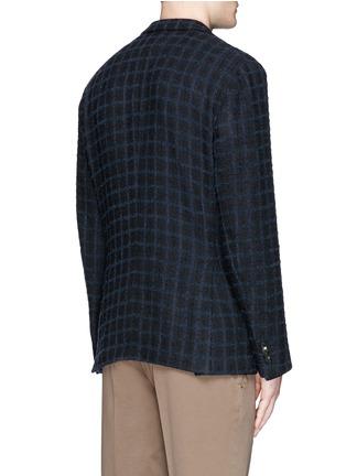 Back View - Click To Enlarge - Boglioli - 'K-Jacket' check bouclé soft blazer