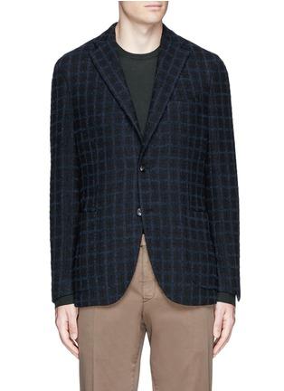 Main View - Click To Enlarge - Boglioli - 'K-Jacket' check bouclé soft blazer