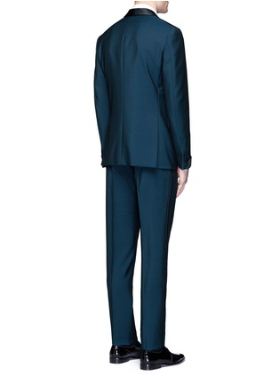 BOGLIOLI-缎面拼接羊毛混马海毛礼服套装