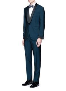 Boglioli'Sforza' satin trim wool-Mohair tuxedo suit