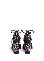 'Karlie' floral embroidery suede pumps