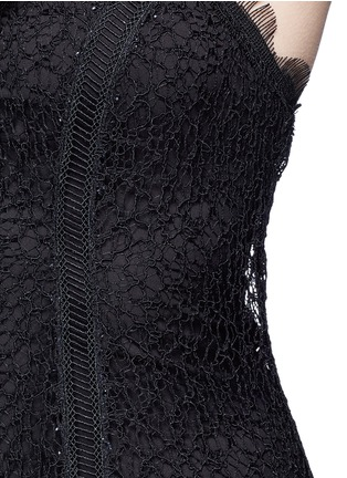 Detail View - Click To Enlarge - Nicholas - Web lace camisole midi dress