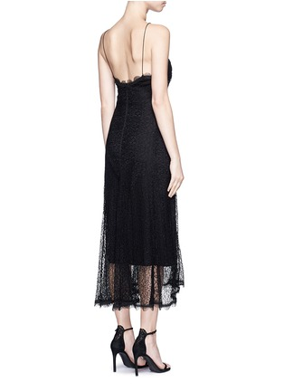 Back View - Click To Enlarge - Nicholas - Web lace camisole midi dress