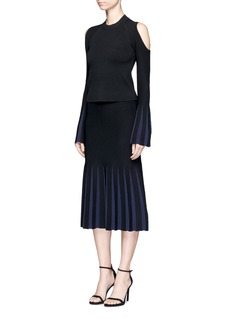 Nicholas Pleat effect Milano knit skirt