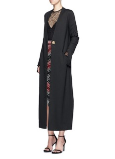 Nicholas Wool blend jersey long coat