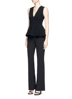 Nicholas Split cuff crepe flared pants