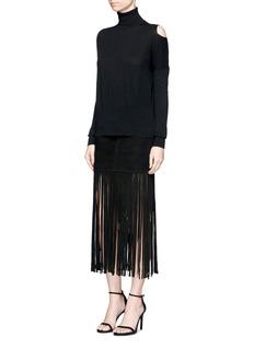 NicholasFringe suede skirt