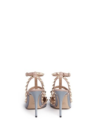 Back View - Click To Enlarge - Valentino - 'Rockstud' caged patent leather pumps