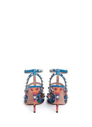 Back View - Click To Enlarge - Valentino - 'Rockstud' Enchanted Wonderland print caged leather pumps