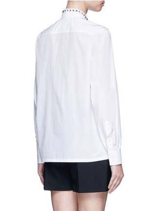 Back View - Click To Enlarge - Valentino - 'Rockstud Untitled 05' poplin shirt