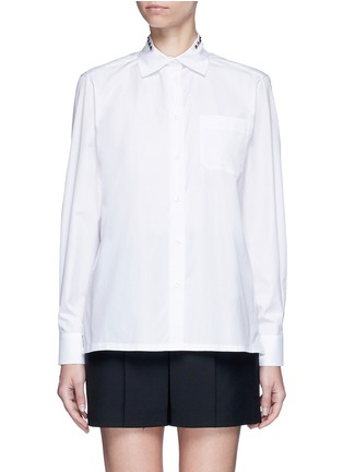 Main View - Click To Enlarge - Valentino - 'Rockstud Untitled 05' poplin shirt