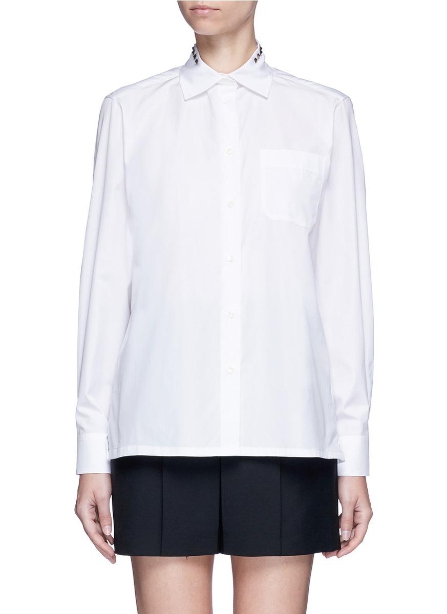 Rockstud Untitled 05 poplin shirt by Valentino