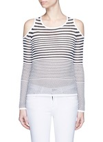 'Brenna' gradient stripe cutout shoulder sweater