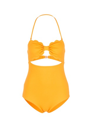 Main View - Click To Enlarge - Marysia - 'Antibes' cutout bow bandeau one-piece swimsuit