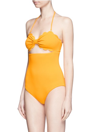 Figure View - Click To Enlarge - Marysia - 'Antibes' cutout bow bandeau one-piece swimsuit