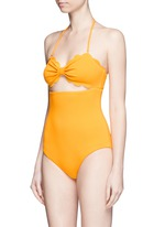 'Antibes' cutout bow bandeau one-piece swimsuit