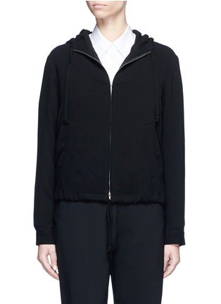 Main View - Click To Enlarge - Theory - 'Charlia' admiral crepe zip hoodie