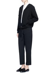 Theory'Charlia' admiral crepe zip hoodie