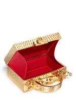 'Grace Box Mini' 18k gold plated brass trunk