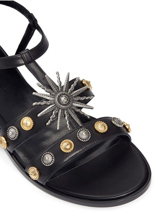 Detail View - Click To Enlarge - FAUSTO PUGLISI - Metal stud leather sandals