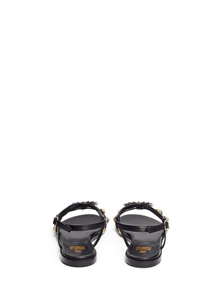 Back View - Click To Enlarge - FAUSTO PUGLISI - Metal stud leather sandals