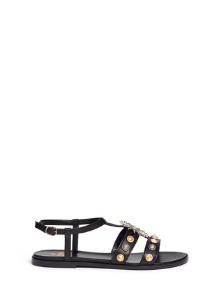 Main View - Click To Enlarge - FAUSTO PUGLISI - Metal stud leather sandals