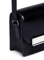Mini leather crossbody satchel
