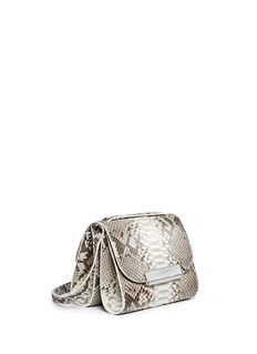 HILLIER BARTLEYTwo-section python leather bag