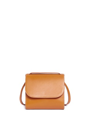 Back View - Click To Enlarge - Hillier Bartley - Pearlescent tab two-section leather shoulder bag