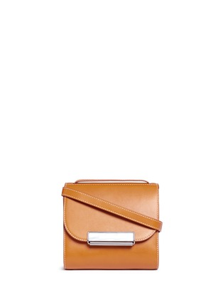 Hillier Bartley - Pearlescent tab two-section leather shoulder bag