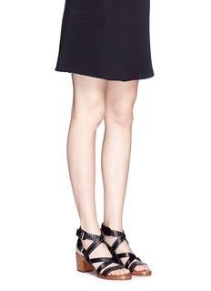 SIGERSON MORRISON'Liz' stud strappy leather sandals