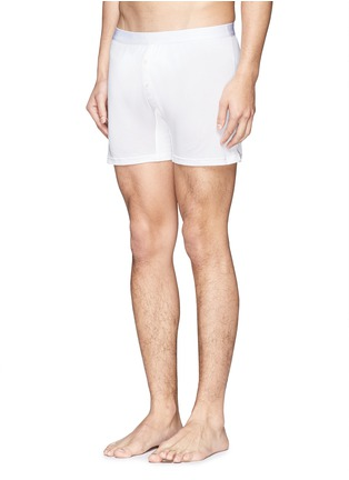 Figure View - Click To Enlarge - Zimmerli - '852 Silk de Luxe' silk boxers