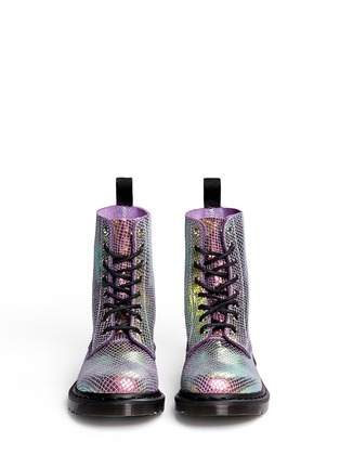 Figure View - Click To Enlarge - Dr. Martens - 'Pascal' chromatic python print suede boots
